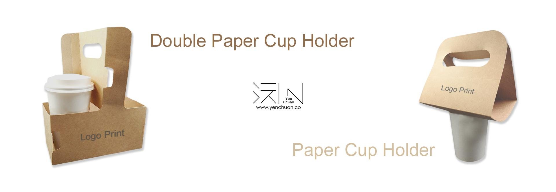 paper cup holder banner