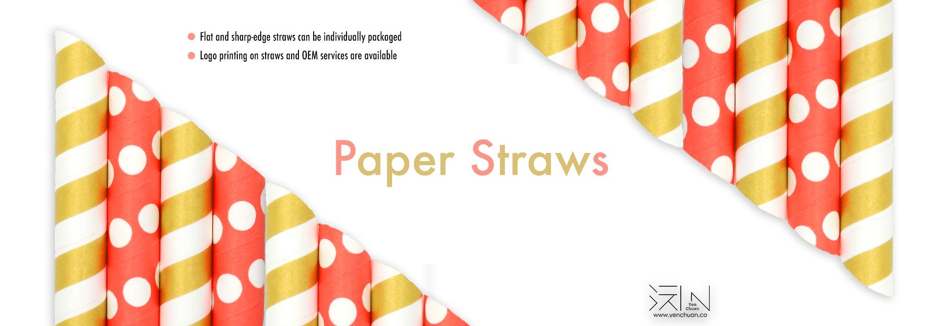 Paper straw banner