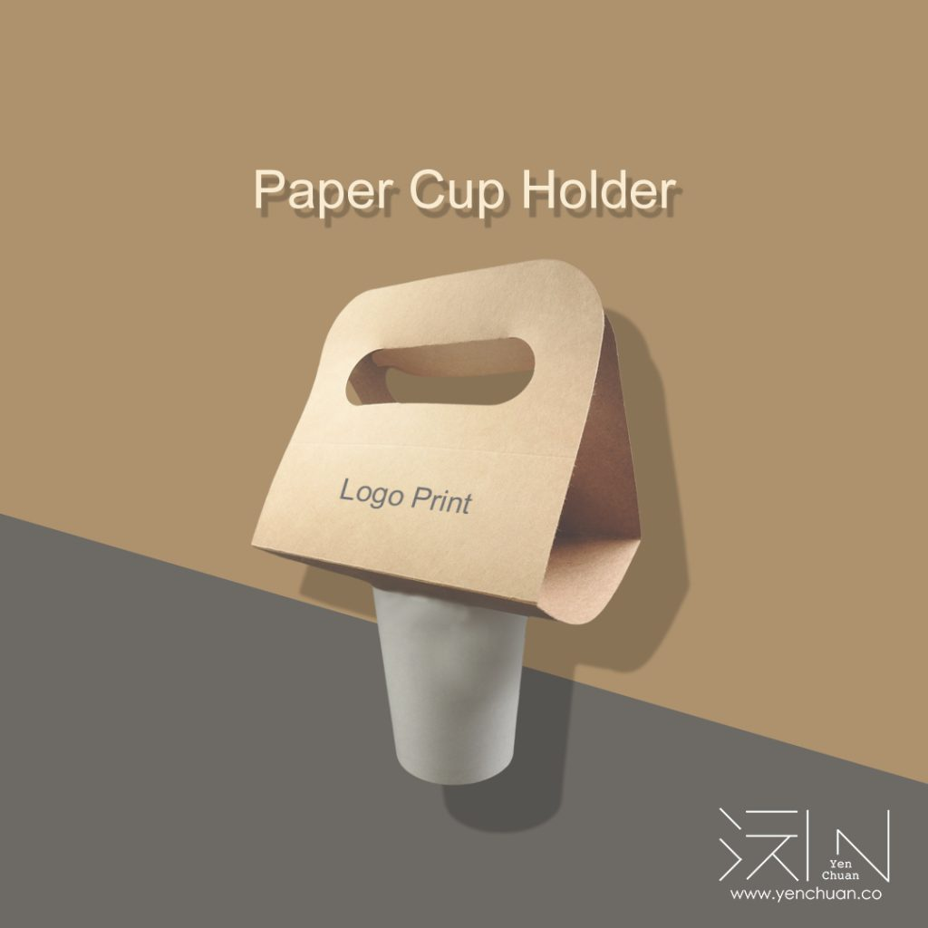 paper cup holder advert