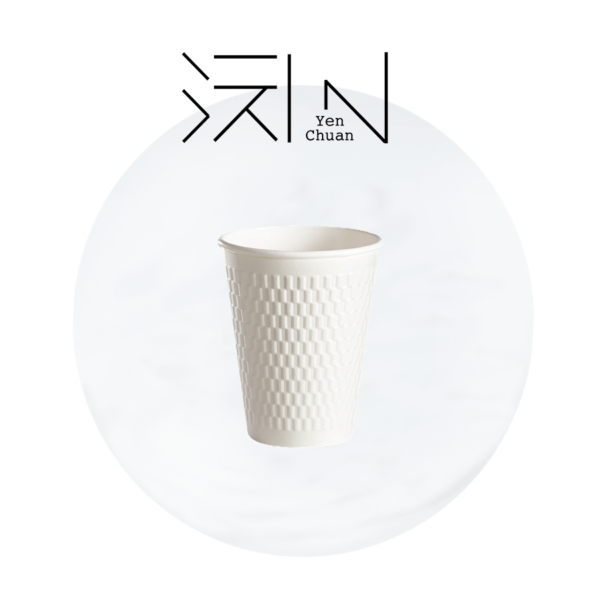 paper coffee cup checker pattern