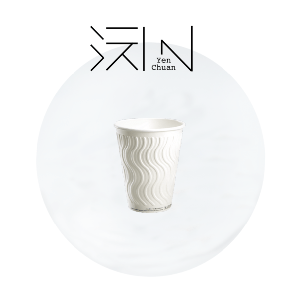 paper coffee cup wave pattern