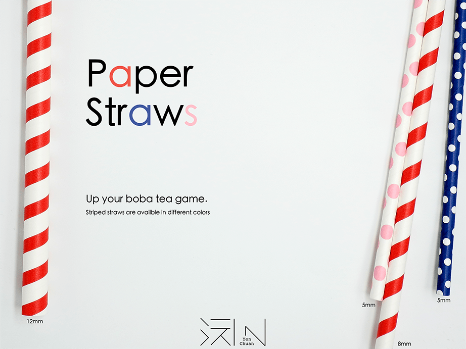 paper straw advert