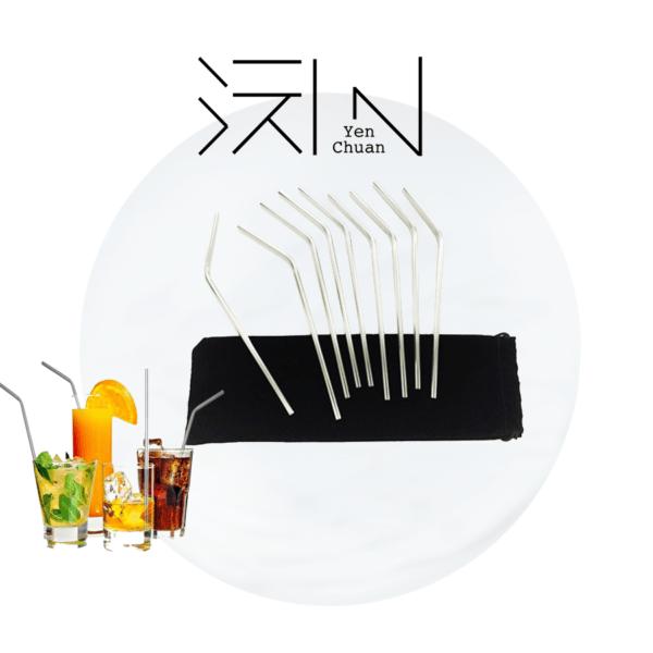 steel straws (bent)