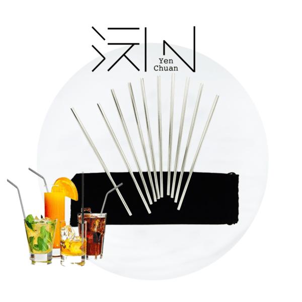 steel straws (straight)
