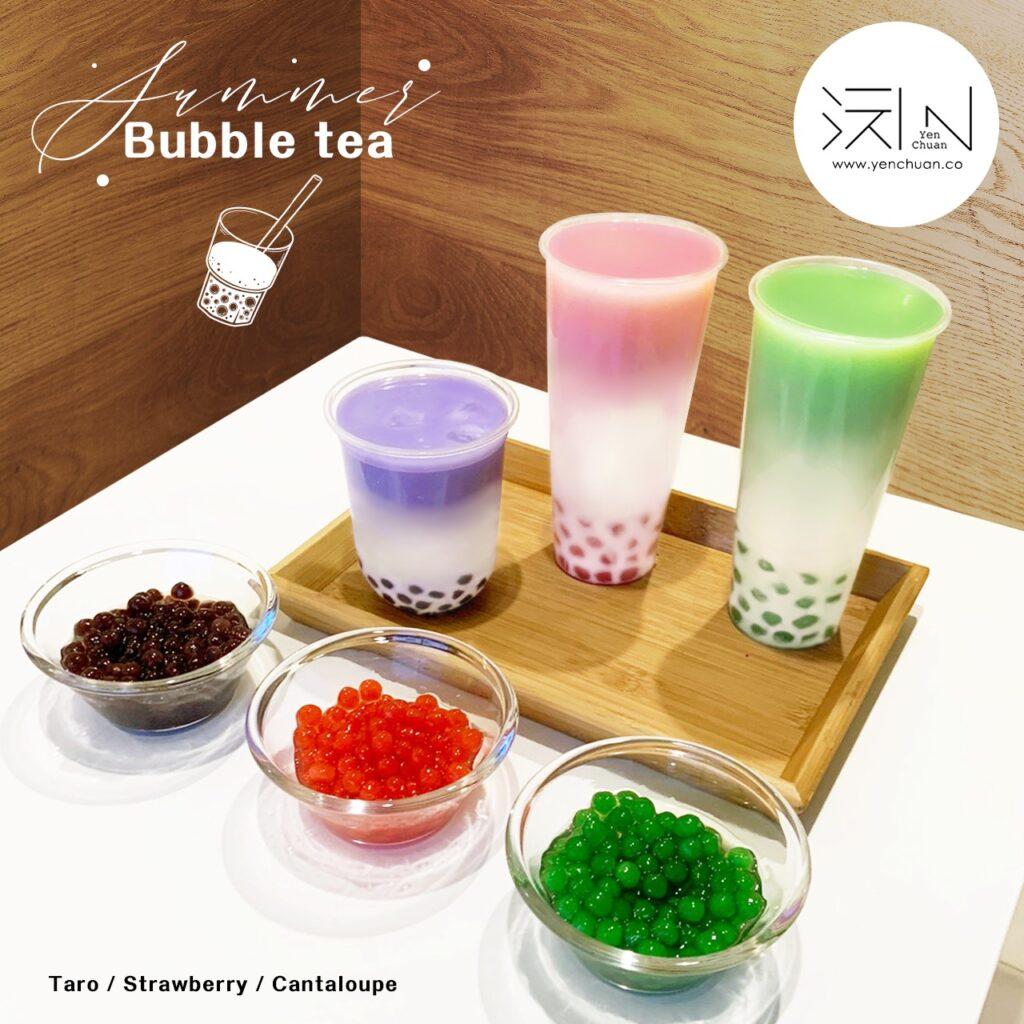 colourful tapioca pearls