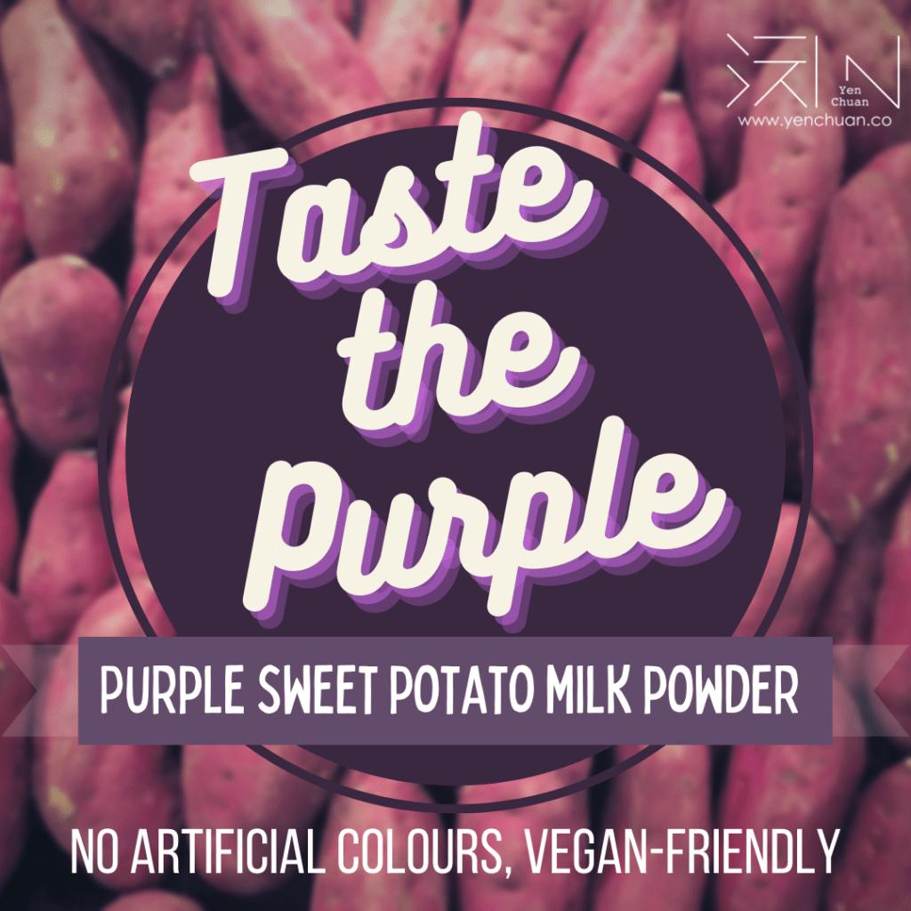 purple sweet potato milk advert