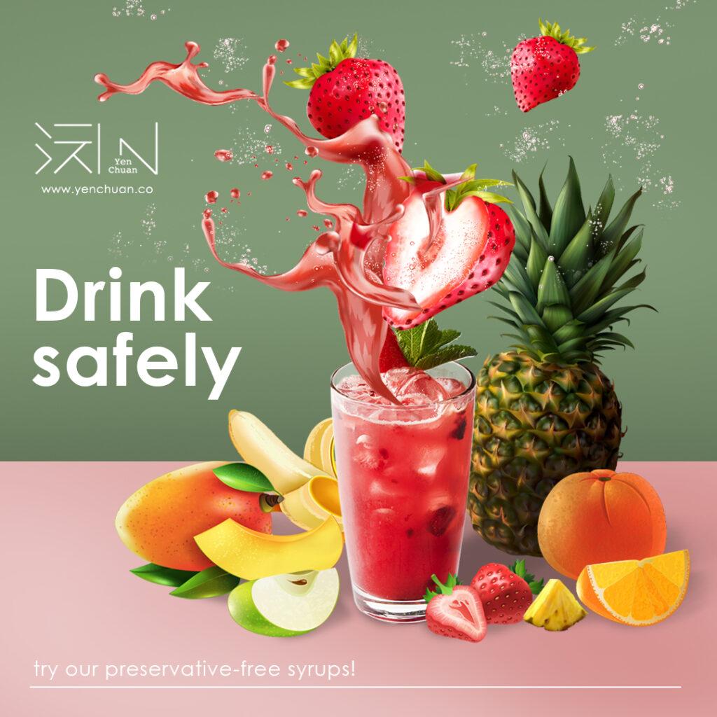 preservatives free syrups advert